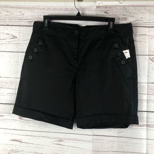 The limited Bermuda shorts black stretch new
